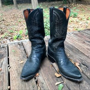 Men's Lucchese 1883 Black Western Boots